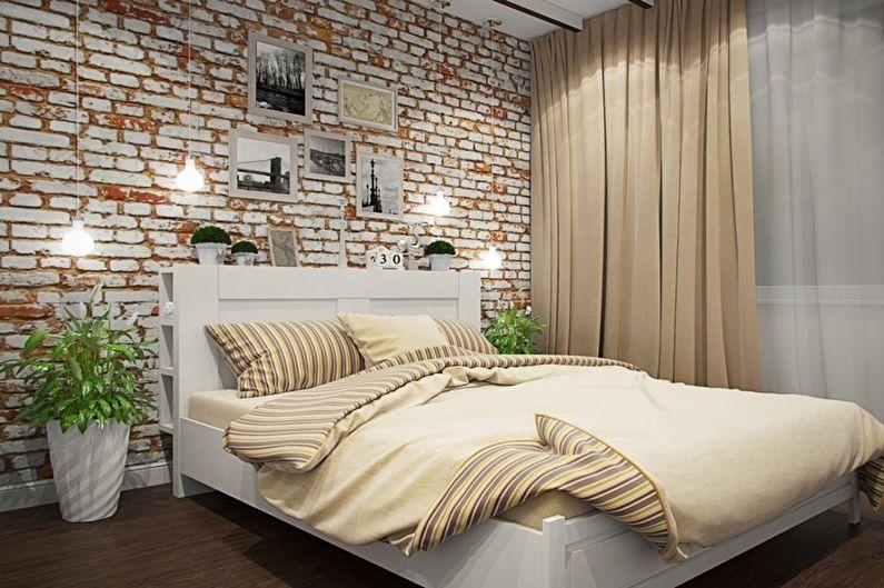 Chambre mezzanine beige - Design d'intérieur