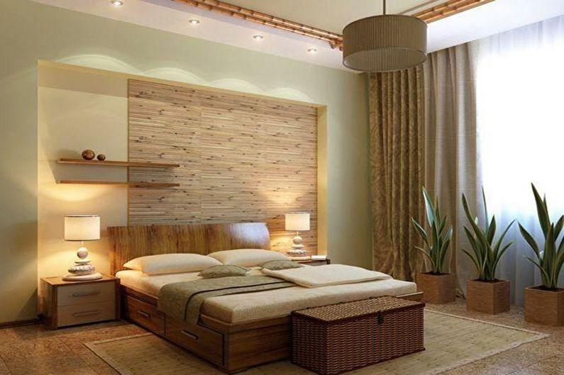 Chambre beige écologique - Design d'intérieur