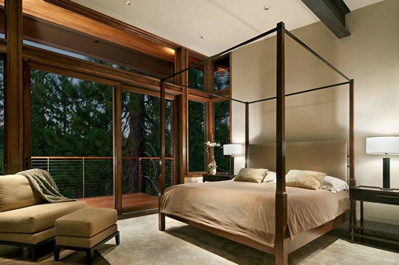 Design de chambre beige - Fini de plancher