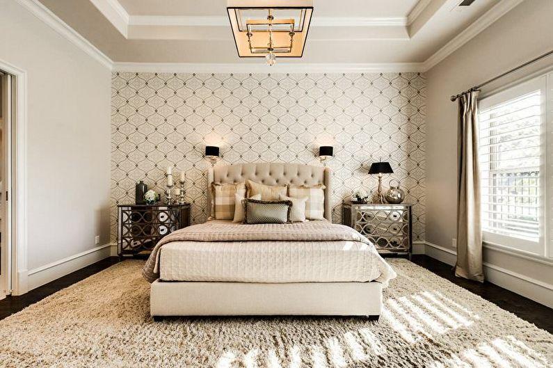 Conception de chambre beige - décoration murale