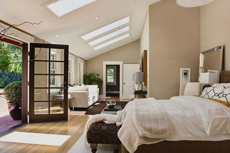 Conception de chambre beige - Finition de plafond