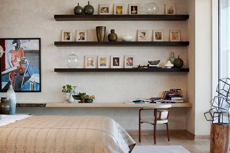 Design de chambre beige - Meubles
