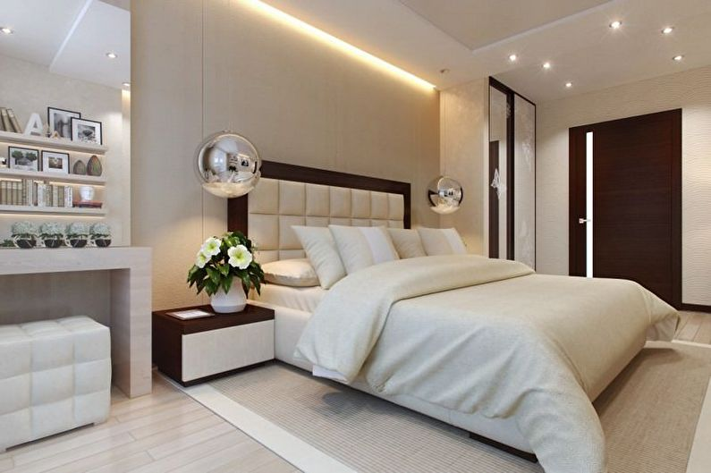 Chambre beige - photo de design d'intérieur