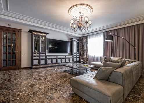 Design d'appartement dans le style du classique moderne