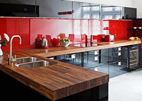Cuisine rouge et noire: idées de design (70 photos)