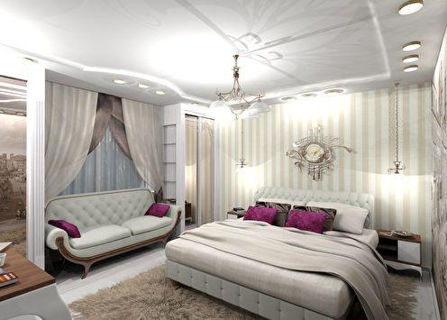 Chambre de style classique, 16 m²