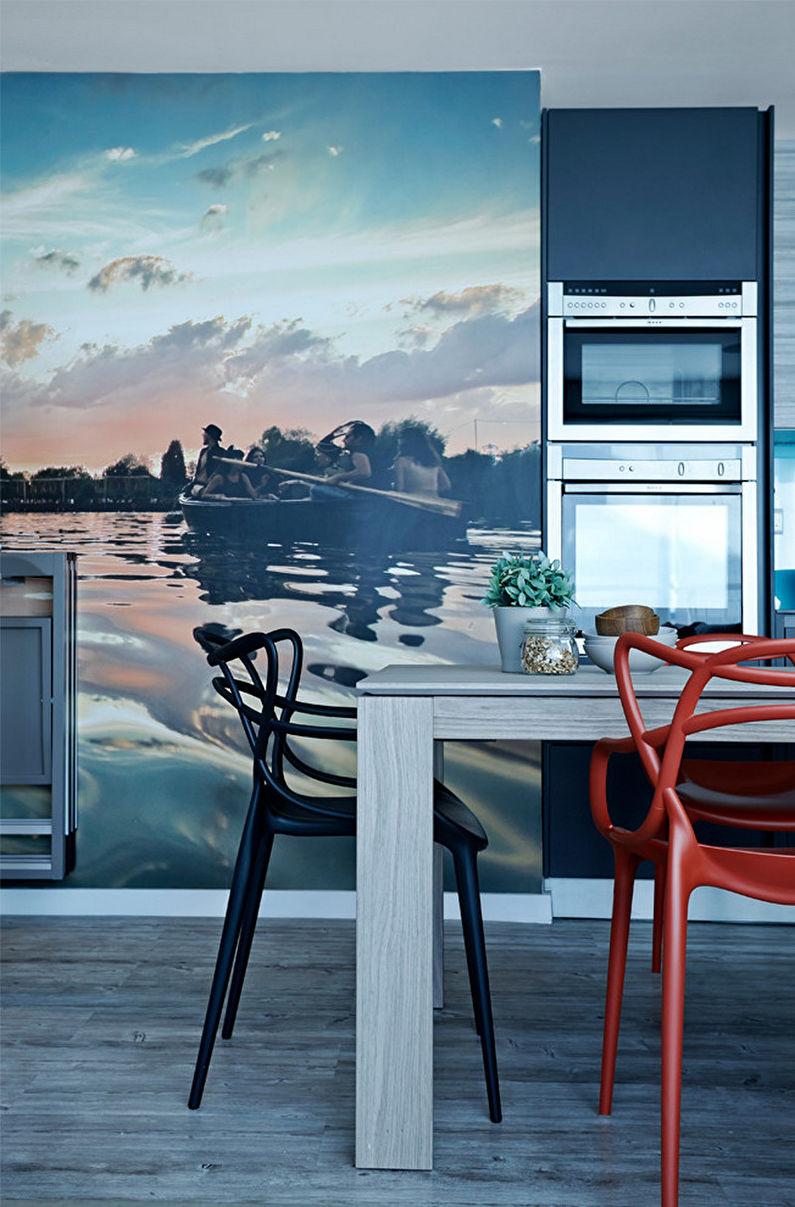 Photo murale à l'intérieur de la cuisine - photo