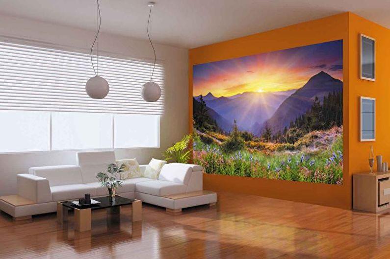 Photo murale à l'intérieur du salon - photo