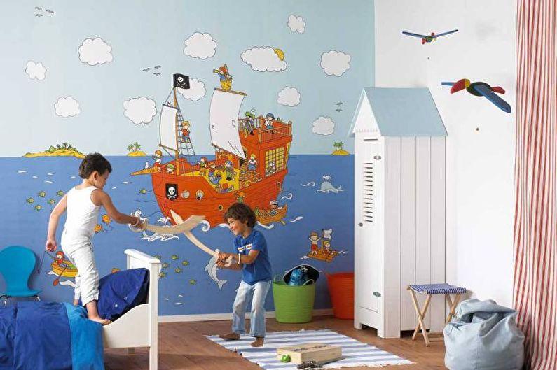 Photo murale à l'intérieur d'une chambre d'enfant - photo