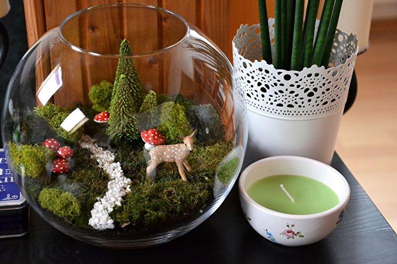 DIY Florarium - Florarium avec mousse