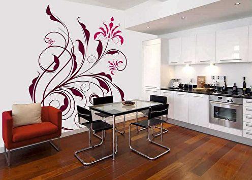 Autocollants papier peint (90 photos): idées de décoration murale