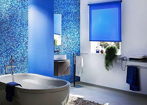 Salle de bain bleue: 75 idées de design (photo)