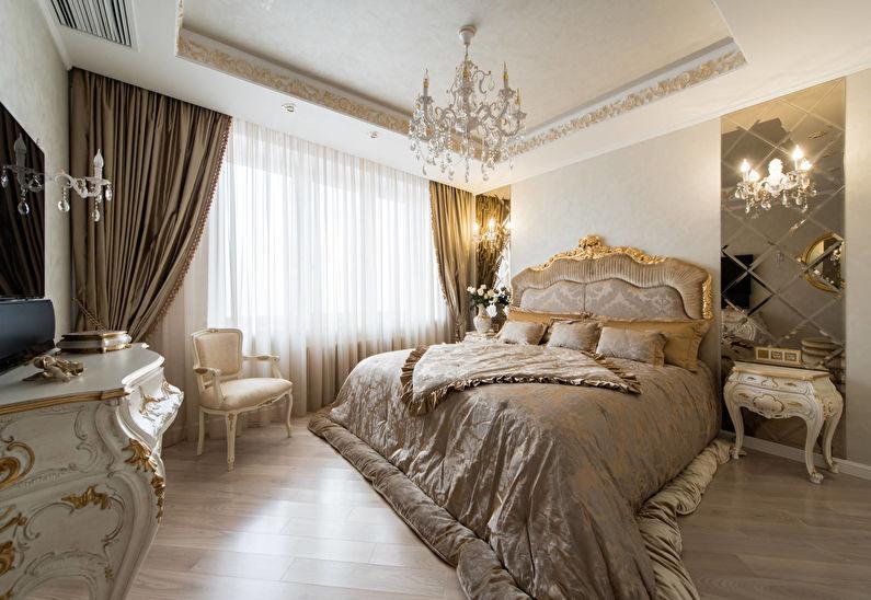 Chambre classique de couleur or - Design d'intérieur