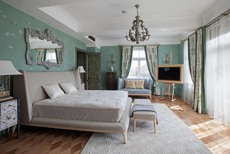 Design de chambre classique - décoration murale