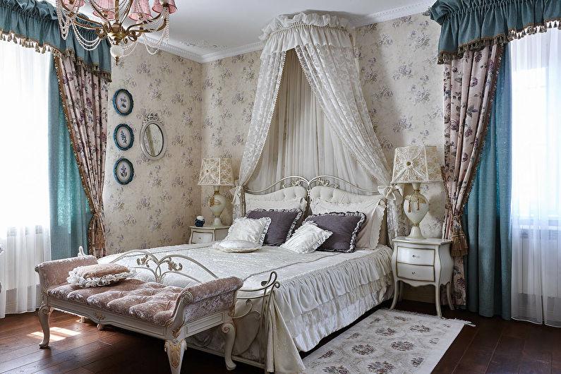 Chambre design dans un style classique - Textiles et décoration