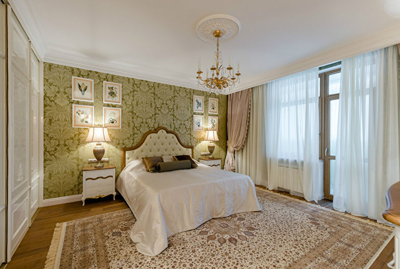 Chambre design d'intérieur dans un style classique - photo
