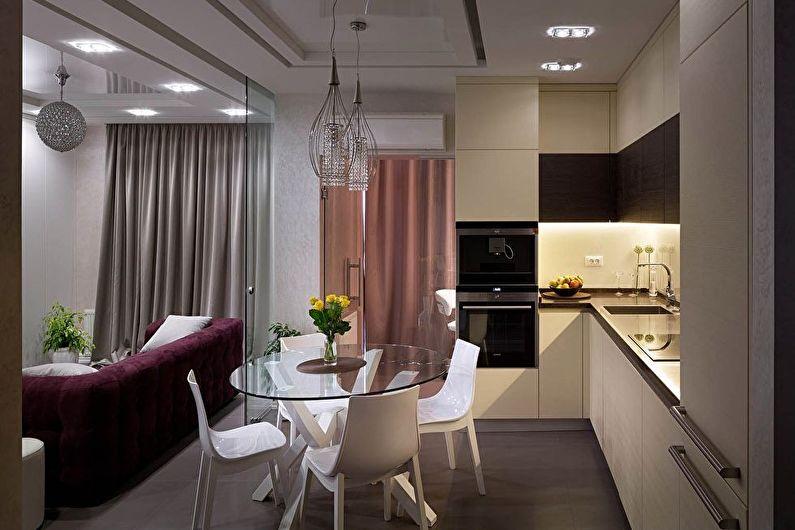 Zonage de la cuisine-salon - Cloisons