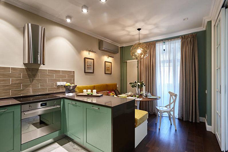 Conception d'une cuisine-séjour dans un petit appartement - Proportions