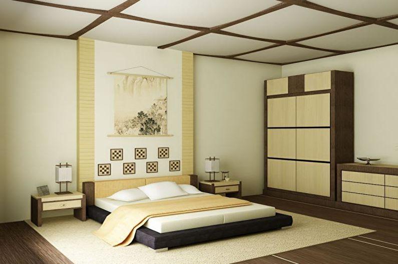 Conception de chambre de style japonais - Fini à plancher
