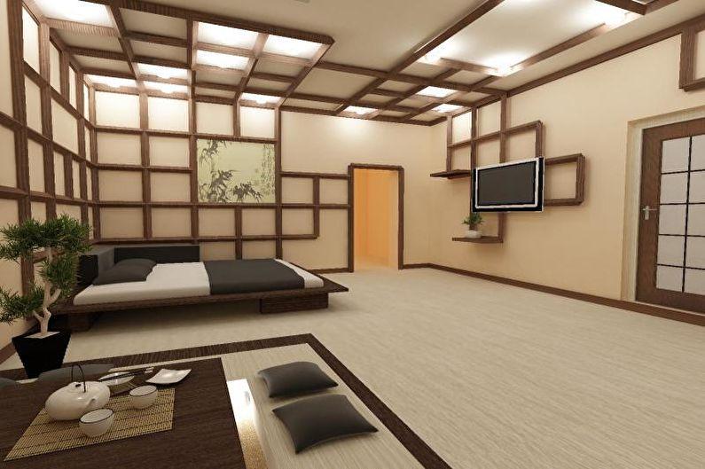 Conception de chambre de style japonais - Finition de plafond