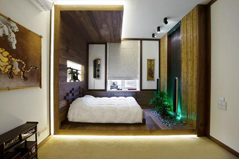 Conception de chambre de style japonais - décoration et éclairage