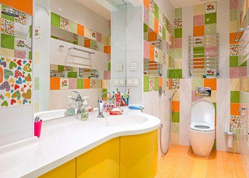 Carrelage de salle de bain: types, comment choisir (75 photos)
