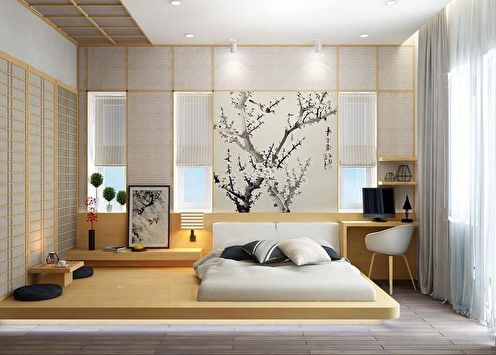 Chambre de style japonais: 90 photos design
