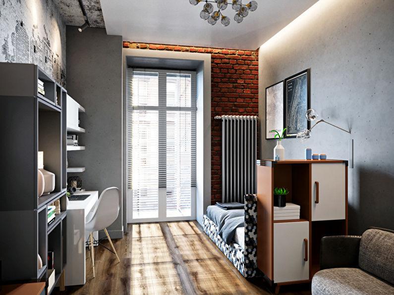 Chambre pour un étudiant étudiant dans le style loft - photo 1