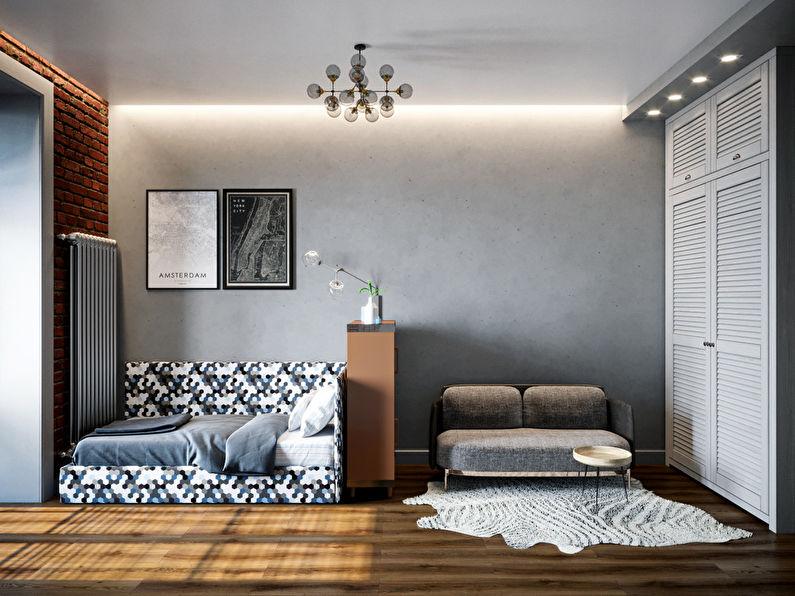 Chambre pour étudiant-étudiant dans le style loft - photo 4