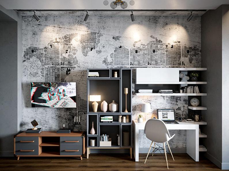 Chambre pour étudiant-étudiant dans le style loft - photo 6