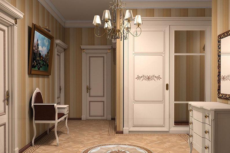 Conception de couloir classique - Couleurs pastel