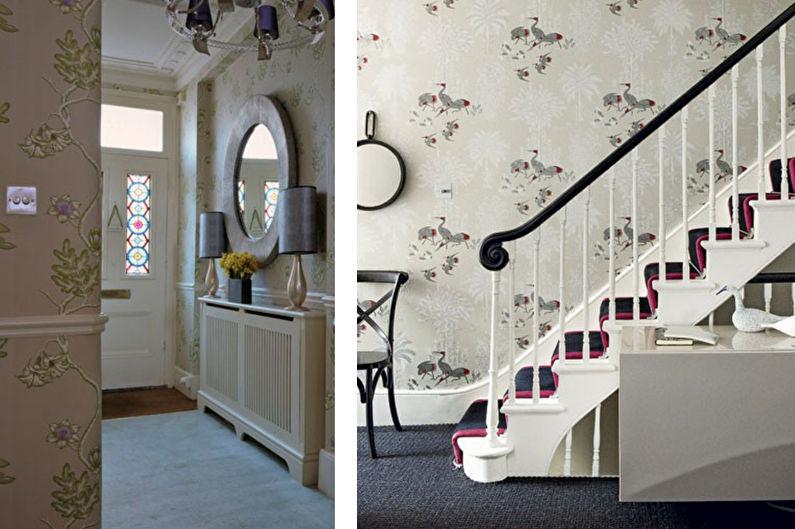 Conception de couloir classique - décoration murale