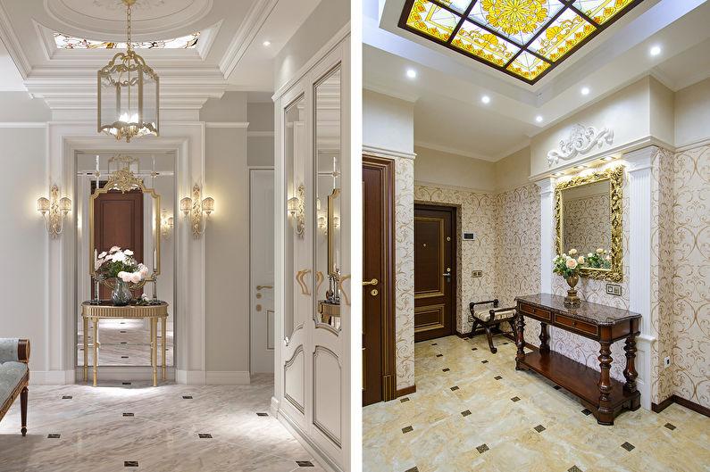 Conception de couloir classique - Finition de plafond