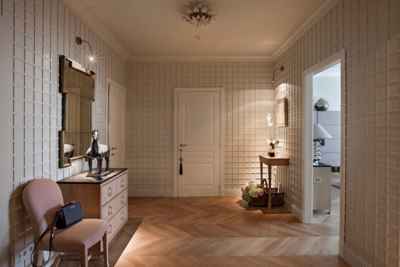 Conception du couloir dans un style classique - Meubles