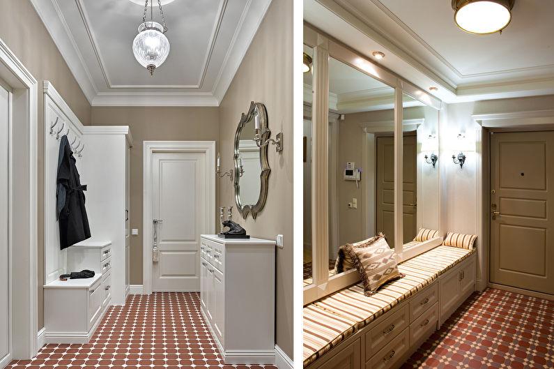 Couloir dans un style classique (+75 photo)