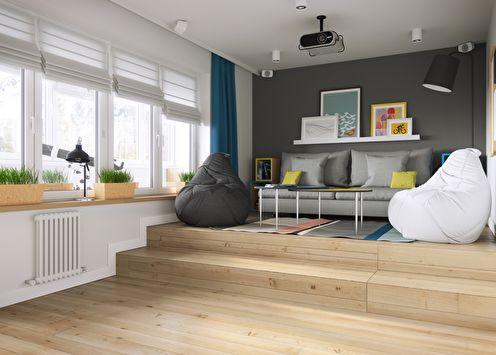 Appartement de style moderne, 34 m2