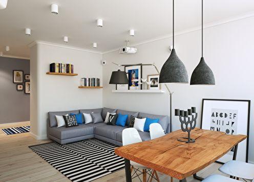 Appartement de style scandinave, 90 m2
