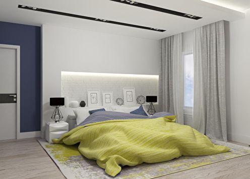 Intérieur de chambre de style moderne
