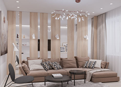 Appartement pour une fille, 65 m2