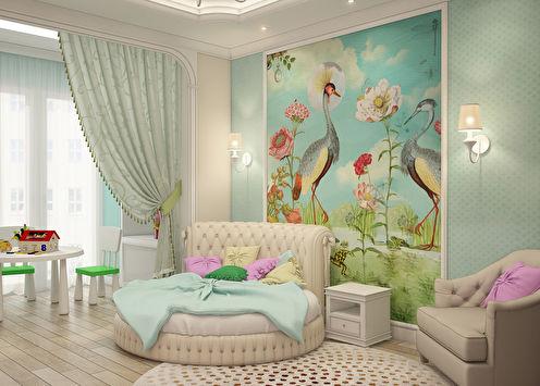 Projet d'aménagement d'une chambre d'enfant pour une fille