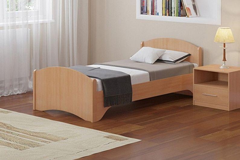 Types de lits simples - selon les matériaux
