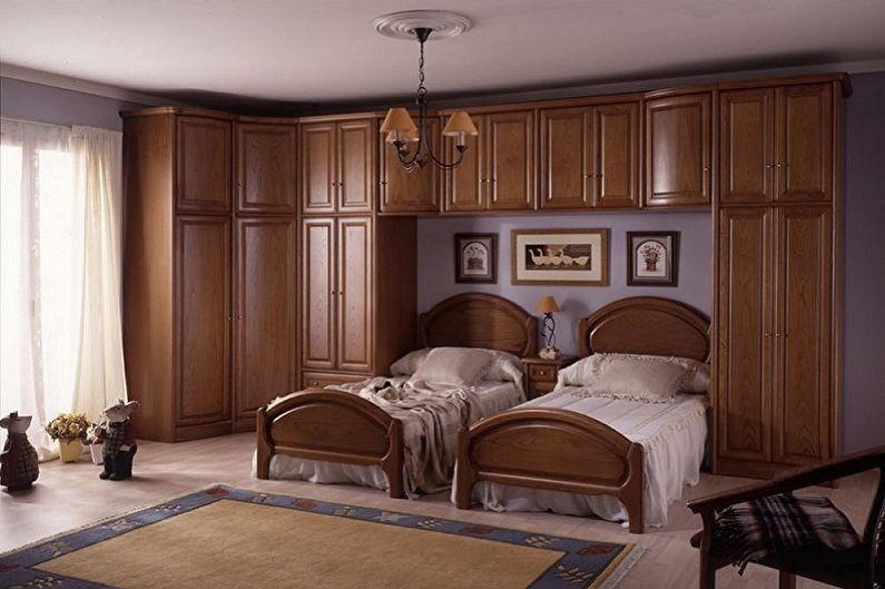 Types de lits simples - Lit avec meuble intégré
