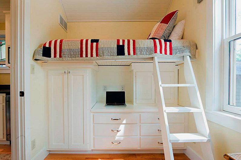 Types de lits simples - Lit mansardé