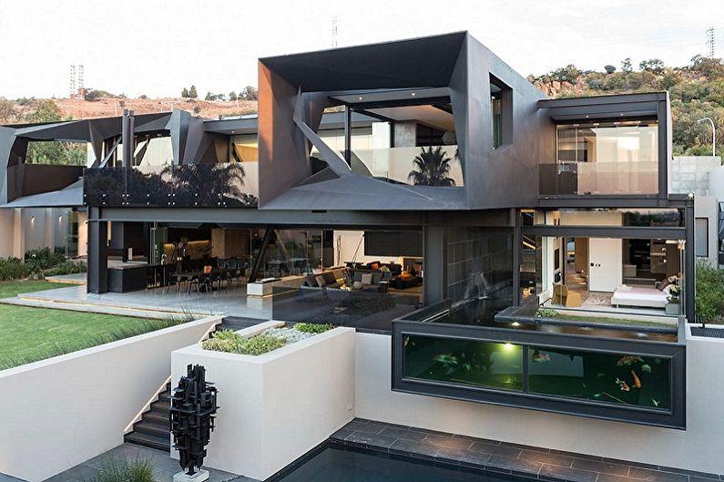Maisons Hi-Tech - Caractéristiques du style en architecture