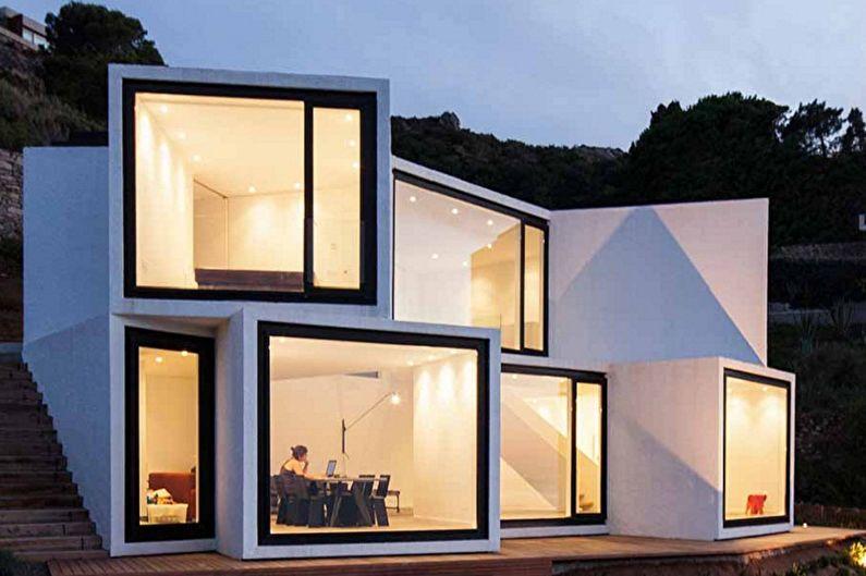 Maisons Hi-Tech - Architecture Géométrique High Tech