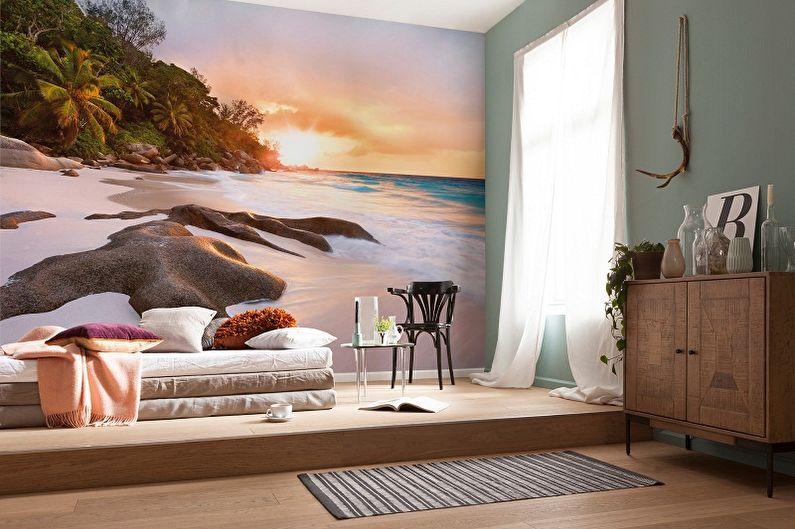 Papier peint photo dans la chambre - photo