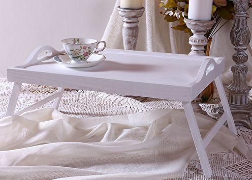 Table de petit déjeuner au lit (90 photos): types et modèles