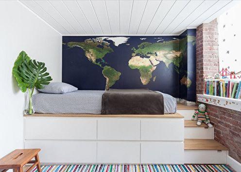 Podium de lit à l'intérieur: 80 idées de photos