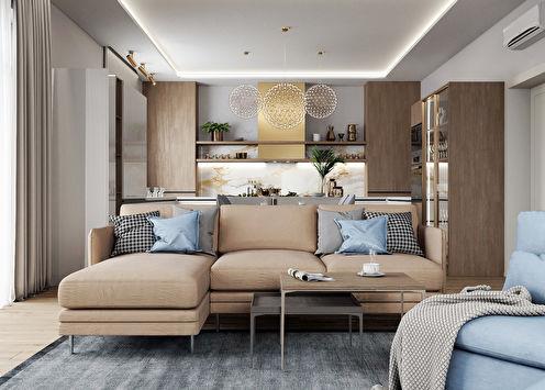 Cuisine-séjour Confort moderne