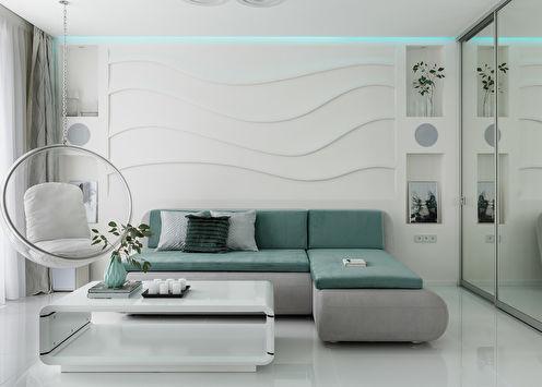 Design du salon 16 m2